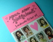 your new girlfriend handmade sticker set IN COLOR