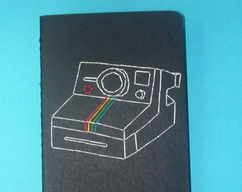 embroidered polaroid pocket journal