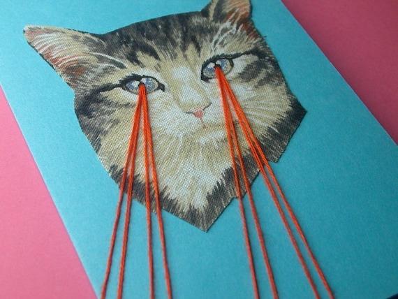 kitten lasers greeting card