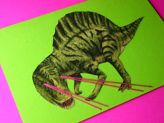 dinosaur lasers greeting card