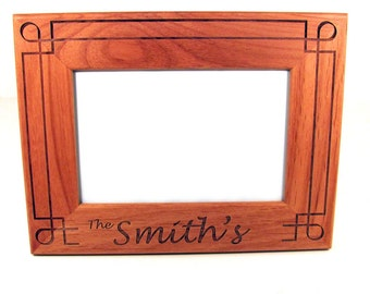 Custom Engraved Wood Picture Frame