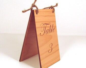 Custom Engraved Wood Table Numbers