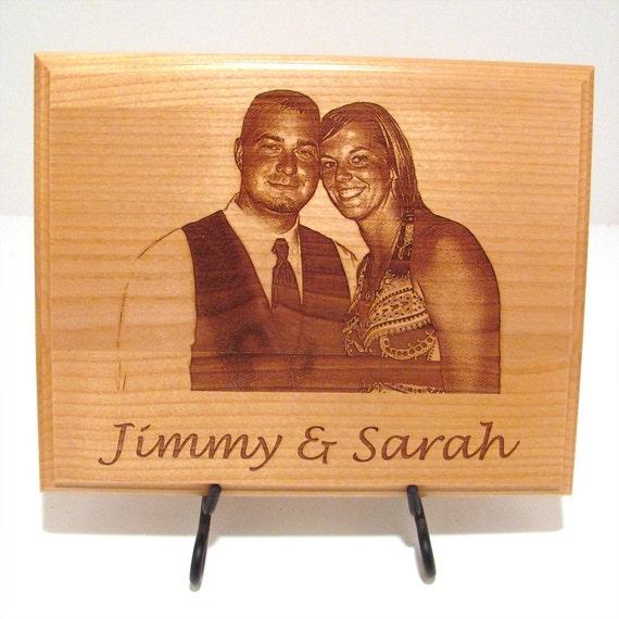 photo custom laser engraved wood plaque sign choose your. Black Bedroom Furniture Sets. Home Design Ideas