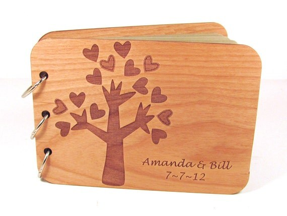 Personalized Guest Book Photo Wedding Album - Tree of Love