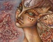 The Moth Rose - Faery Art Print