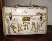 Vintage Pink PARIS Train Case