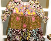 Chocolate Lollipop Peasant Dress size 3 or 4