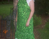 Earth Green Floral Sundress only for leestorebuys