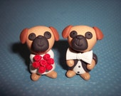 Puggle Wedding Cake Toppers