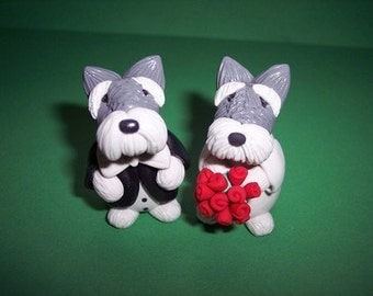 Schnauer Wedding Cake Topper