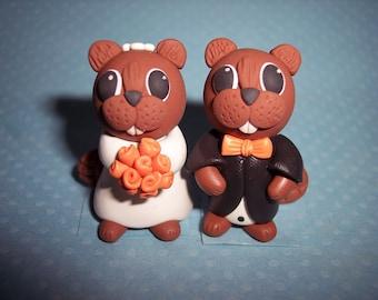 Beaver Wedding Cake Topper