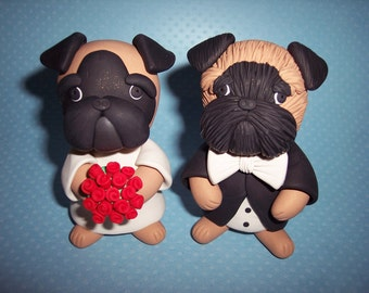 Brussels Griffon Wedding Cake Toppers