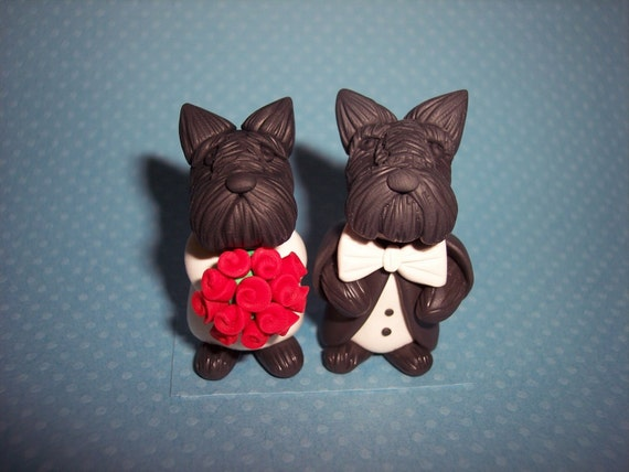 scottish terrier wedding cake toppers custom scottie scottish terrier wedding cake topper 19692