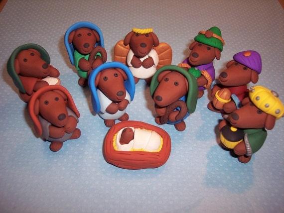Custom Order Dachshund Nativity