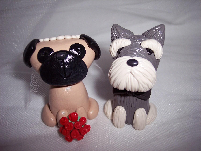 Any Breed Dog Wedding Cake Topper by thepinkkoala on Etsy
