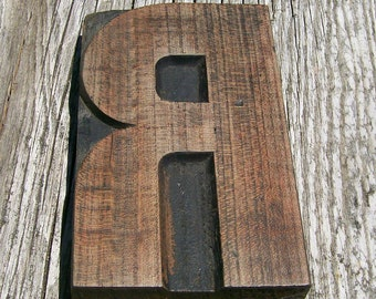 75% Off with Coupon Code SUMMER - Letterpress R - More than 5 inches tall - One Item - Lot 312