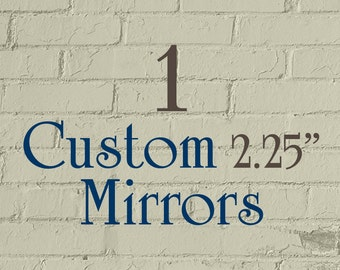"1 Custom Pocket Mirror - 2.25"" Round (2-1/4 Inch) - Full Color"