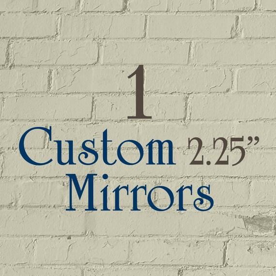 "1 Custom Pocket Mirror - 2.25"" Round (2-1/4 Inch) - Full Color"