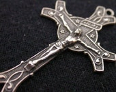 Four Items - Crucifix, Rosary Components, Religious Jewelry Components