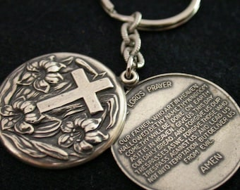 Wedding Favor, Key Chain with Lords Prayer, On Etsy