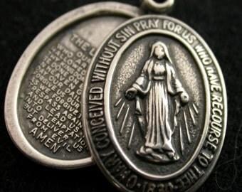 Miraculous Medal Religious Catholic Pendant Charm on Etsy