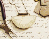 A Little Math Necklace - One of a Kind Assemblage Jewelry for Your Favorite Mathemetician or Engineer