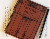 Recycled Journal - Two Part Music - A Premium One of a Kind Handmade Vintage Journal or Sketchbook