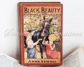 Horse Lovers Book - Antique Book - 1924 - Black Beauty - Anna Sewell - The Saalfield Publishing Company