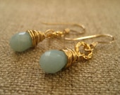 For Elaine - Seafoam earrings