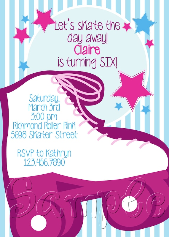 Skate Party Invitation for adorable invitations example