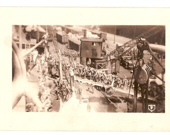 WWI RP Postcard of Troops Boarding Ship