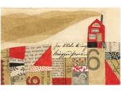 Tiny Life No.6 -  7X5 GICLEE PRINT, home, collage, Susan Black