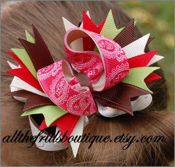 How to Make Stacked Over the Top Hair Bows ... Boutique Instructions Guide Pattern... Receive Today