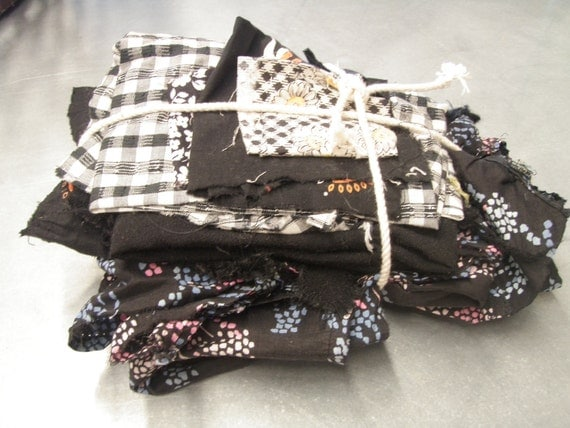 SALE - 40% Off -  Bundle of Scrappy Fabric Happiness -BLACK-