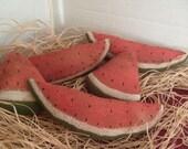 Primitive Watermelon Slice Ornies