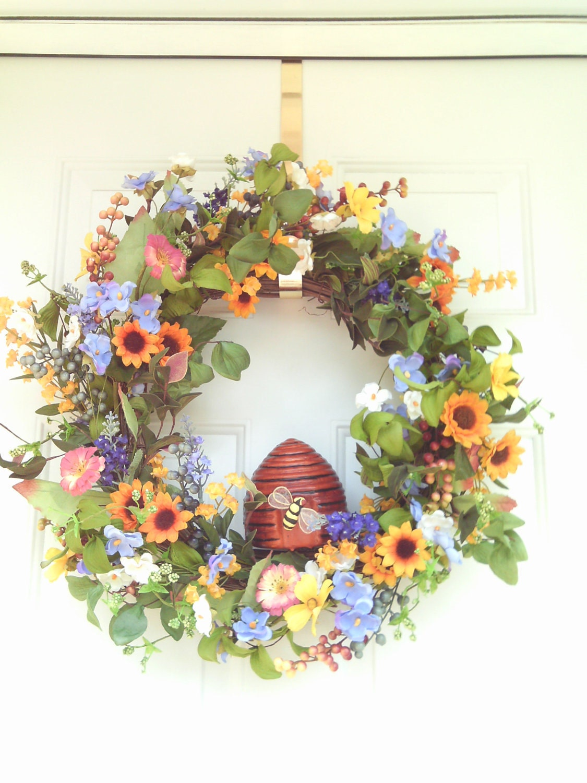 Summer Wreath Front Door Wreath Spring Wreath Wreaths
