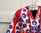 Red White and Blue Reversible Poncho