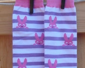 Sale - Silly WABBIT Stripes - KOOL KID Arm / Leg Warmers for Baby, Toddler, Child, Girl - Fun and Functional Fashion - Great for Easter