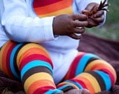 KOOL KID Arm / Leg Warmers for Baby, Toddler, Child, Tween Boy or Girl - Autumn Stripes - Fun and Functional Fashion