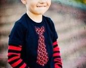 KOOL KID SKULL Tie - 2pc Shirt/Onesie and Kool Kid Leg warmer set for Children, Babies, Toddlers, Kids, Boys