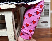 ON SALE - Valentine's Day Girls Leg Warmers - Baby Leggings - Kids Arm and Leg Warmers - Sizes to Fit Infant, Toddler, Kid, Tween - Fun Gift