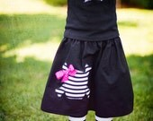 Girls Skull and Cross Bone Skirt and Leg Warmer Set for Halloween or Birthdays - Sizes for Baby, Toddler and Big Kid - Great Gift