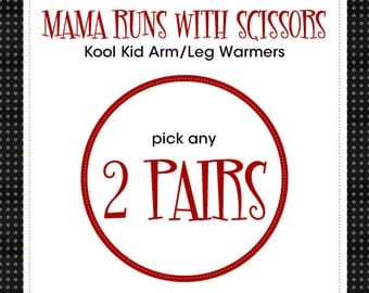 "Leg Warmers for Baby, Infant, Toddler, Kid and Tween - Choose any 2 pair of the 14"" length - Arm Warmers/Leggings - Gift for Boy or Girl"