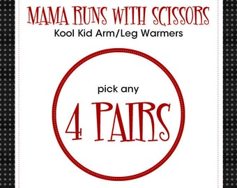 """Leg Warmers for Baby, Infant, Toddler, Kid and Tween - Choose any 4 pair of the 14"""" length - Arm Warmers/Leggings - Gift for Boy or Girl"""