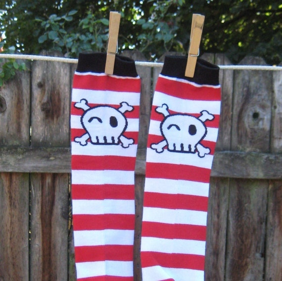 KOOL KID LEGS      YAR MATEY   PIRATEY STRIPES      FUN for BOYS or GIRLS