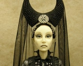 the Queen of the Night  OOAK fine art doll collectible polymer clay OGLD ADO RESERVED LISTING