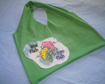 One Fish Two Fish Recycled T-shirt Shopping Bag