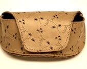 antique gold patterned leather sunglasses case