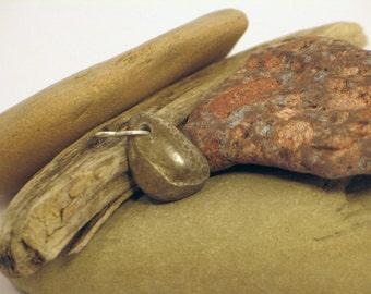 Grey Charlevoix Stone Fossilized Coral Beach Stone Pendant