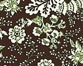 Michael Miller Nanette Fabric in Brown and Sage DISCONTINUED